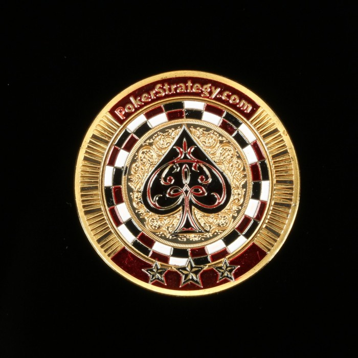 Guard Card Protector Coin Chip Gold Plated Round Plastic Case Metal Poker