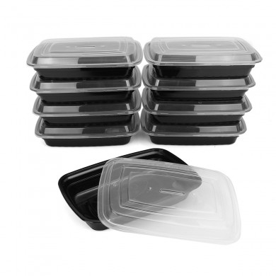 10Pcs 750ml Meal Prep Container Set Armazenamento de alimentos plásticos Reusável Lids Lunch Boxes