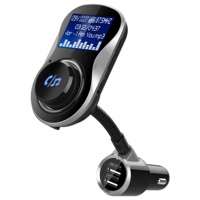 BC26 Bluetooth Car Kit Handsfree Wireless FM Transmitter Modulator Car Charger