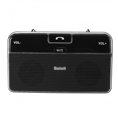 Wireless Bluetooth 4.0 Telefone com viva-voz no carro Sun Visor Music Bluetooth Carregador de carro do receptor