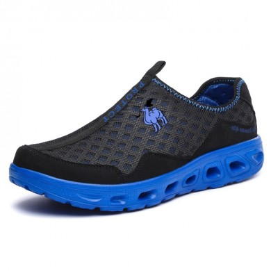 Мужская летняя мода Breathable Mesh Shoes Slip-On Cushion Sneakers Loafers Casual Sport Shoes