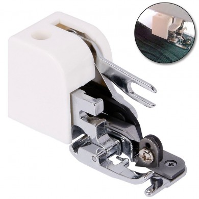 Household Presser Foot Press Feet Side Cutter White Sewing Machine Parts Side Cutter Overlock Attachment