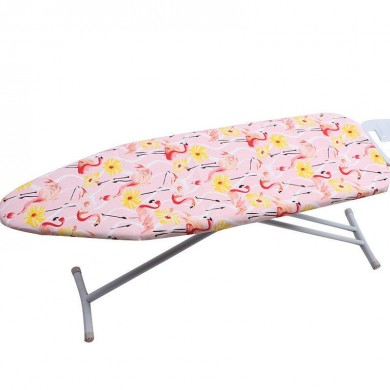 Padded Ironing Board Cover Retaining Flamingo with Heat-Reflective 2-Layers Cotton Pad