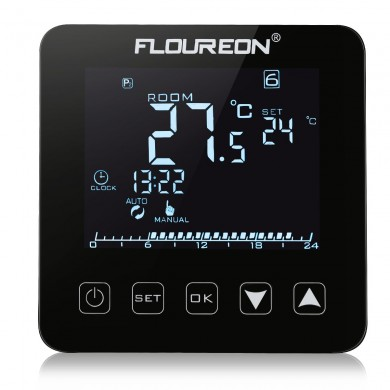 Termostato per riscaldamento elettrico Floureon HY08WE-2 LCD Display Digital Termometro