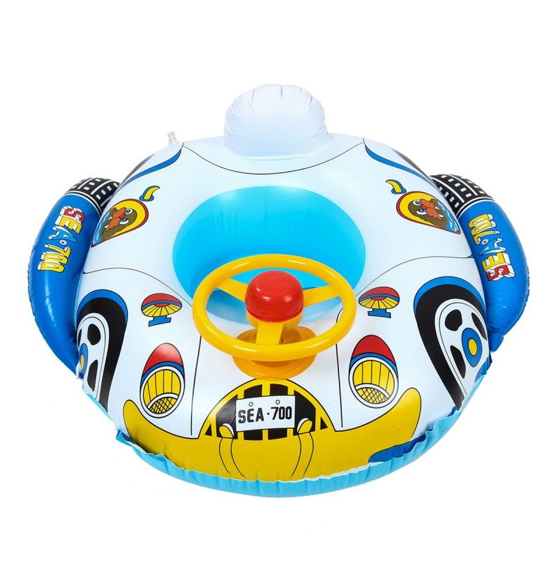 Baby Car Swimming Water Float Boat Pool Beach Inflatable Kid Toy Gift фото