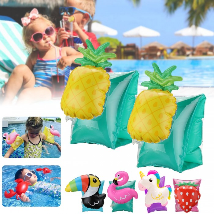 Splash Play Dolphin Green Orange kids Inflatable Arm Bands Swimming Aid Summer