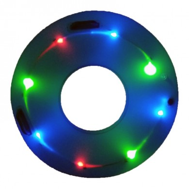 IPRee Anneau de natation Glow Led Luminous enfants gonflables Enfants Learner Swim Pool Circle