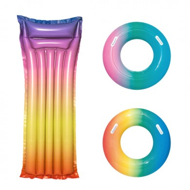 Xiaomi Bestway Rainbow Colorful Aufblasbarer schwimmender Schwimmring Beach Water Pool Party Toys