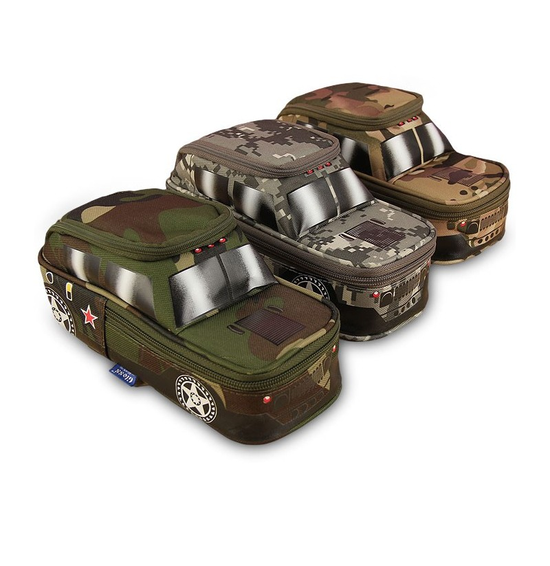 Creative Camouflage Jeep Bag Off-Road Car Tank Pen Bag Box with Coded Combinat For Kids (Color: Green) фото