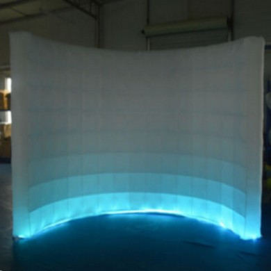 3x1.5x2.3m panno Oxford Gonfiabile LED Bianco Photo Booth Sfondo Tiro a muro Tenda da tiro