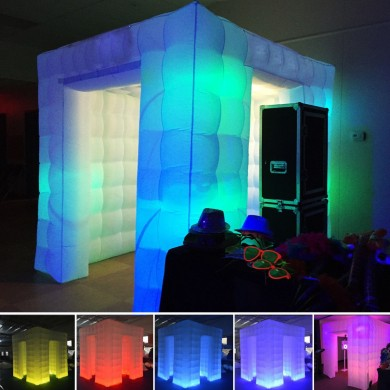 2.55M Inflable profesional LED Air Photo Booth Tienda de tiro fotográfico