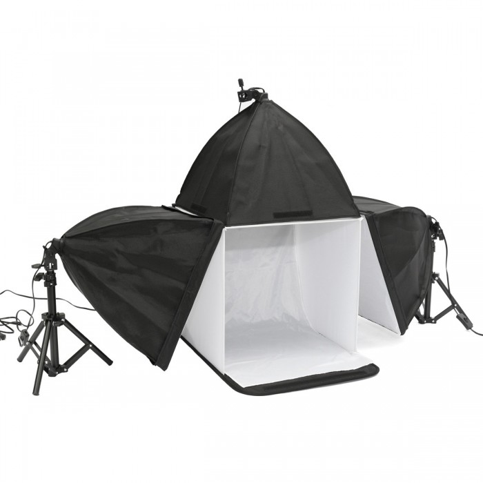 16 pouces Photo Studio Photographie Cube Light Tent Backdrop 3 Softboxes Kit d'éclairage