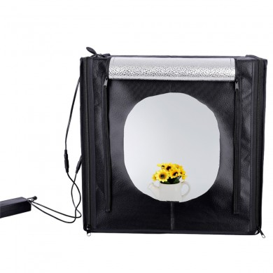 60cm portatile 60W 5500K bianco foto studio di illuminazione Photograghy ​​Softbox luce a led Tenda di tiro