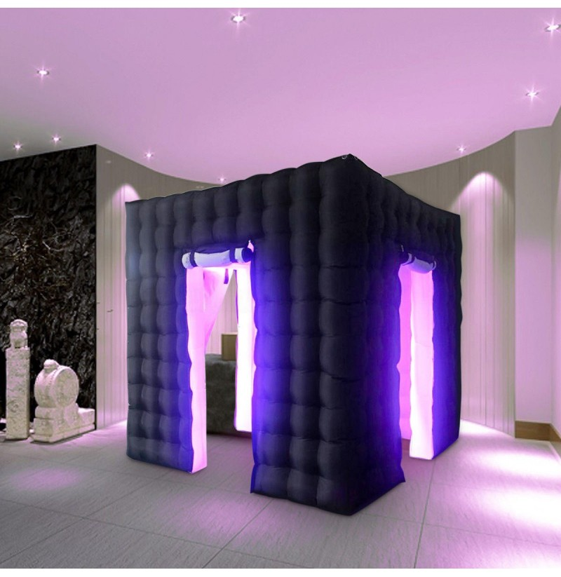 2.25M Inflatable Cube Photo Booth Tent Portable Two Door Photography Shooting Tent фото