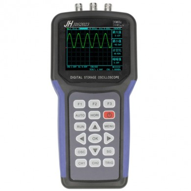 JDS2023 Digital Storage Handheld Oscilloscope 1 Channels 20MHz Oscilloscope AC/DC Input Coupling with Signal Generator Function