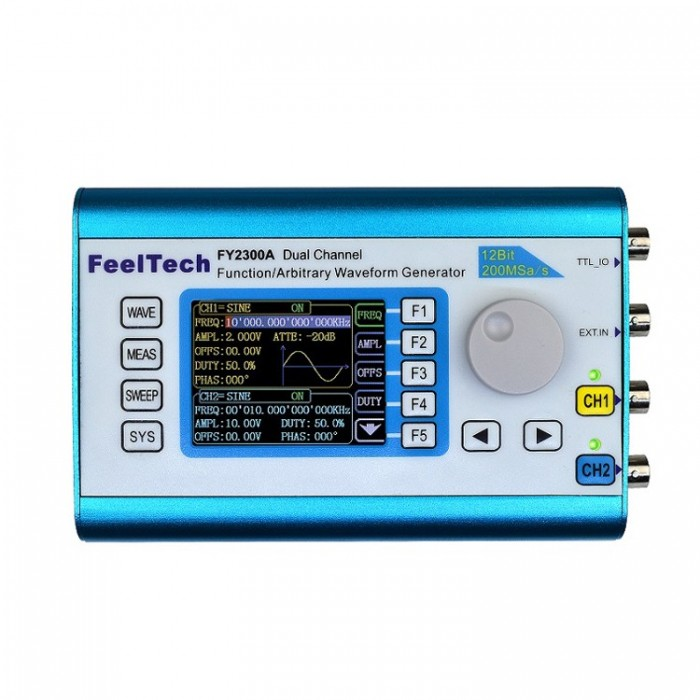 FY2300 6MHz Arbitrary Waveform Dual Channel High Frequency Signal Generator  200MSa/s 100MHz Frequency Meter DDS