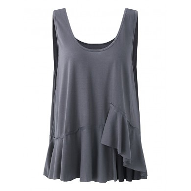 Women O-neck Sleeveless Solid Color Tank Tops