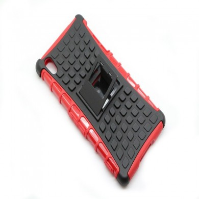 Doble robot de color stents Volver Funda protectora para sony z2