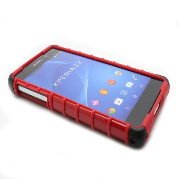 Double Color Robot Stents Protective Back Case Cover For Sony Z2