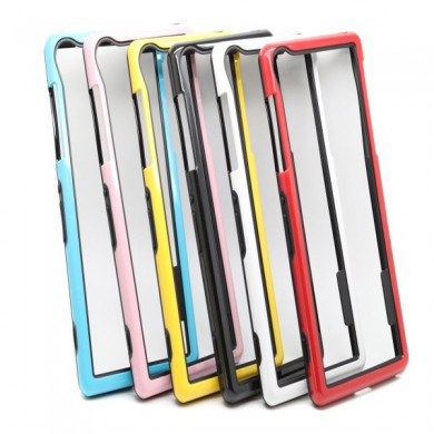 doble color TPU pc marco de parachoques funda protectora para sony z2