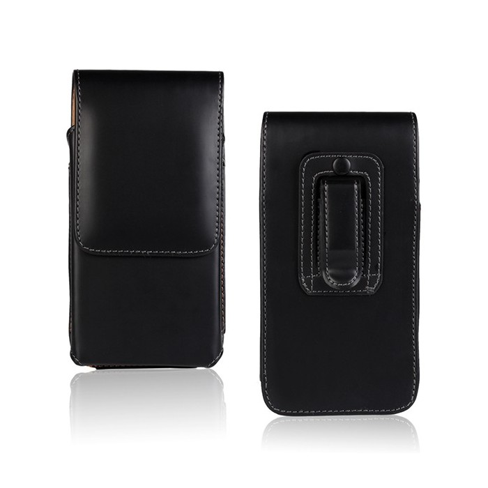 Waist Hanged Open Up And Down Leather Case For Sony T2