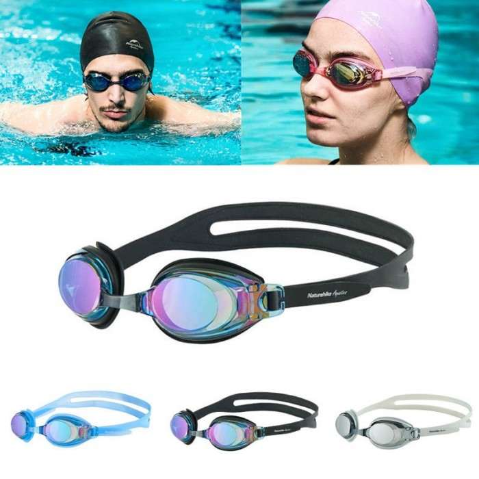 Naturehike NH 18Y030-J Swimming Goggles Anti-Fog UV Protection HD Glasses With Silicone Earplugs Kit