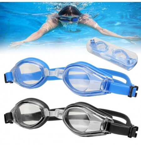 Professional Anti-Fog Swimming Goggles UV Protection Adjustable Waterproof Silicone Eyewear