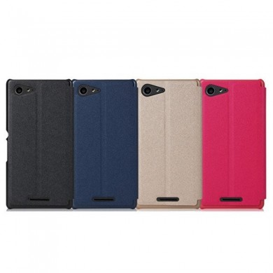 BEPAK Bright-series Flip Stand PU Leather Case For SONY Xperia E3