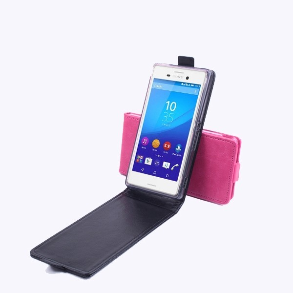 Flip PU Leather Protective Case Cover For SONY Xperia M4