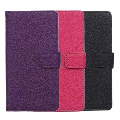 Litchi Pattern Wallet Stand Leather Case Cover For SONY Xperia Z4