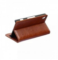 Crazy Horse Wallet Stand Leather Case Cover For SONY Xperia Z4