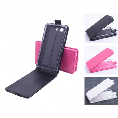 Flip Up And Down PU Leather Case Cover For Sony Xperia Z4 mini