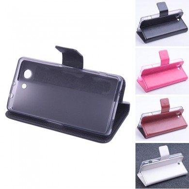 Flip Leather Magnetic Protective Case For Sony Xperia Z4 mini