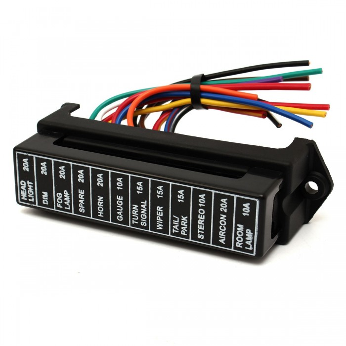 32v 12 way circuit car boat automotive blade fuse box block holder ...  teknistore