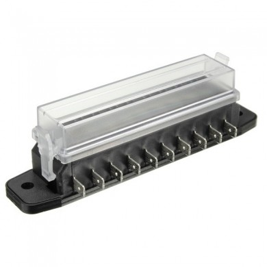 12V 10 Way Blade Fuse Box Board Holder Under Hood Interior Car Boat Marine