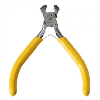 125mm Carbon Steel Yellow Nail Pliers Jewelry Making Tool