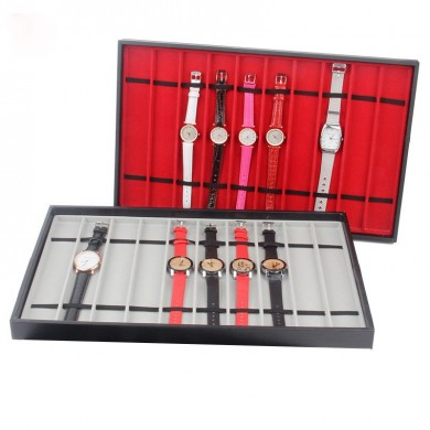 10 Slots Red/Grey Watch Display Tray Jewelry Display Stand