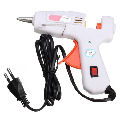 20W White Heating Hot Melt Electric Glue Crafts Repair Tools