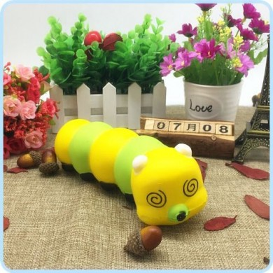 Cute Cartoon SquishsThe Caterpillar Colorful Caterpillar Gift para niños niños