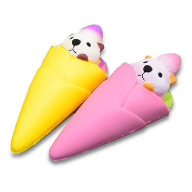 Squishy Ice Cream Bear Soft Slow Rising Collection Подарочный декор Squish Squeeze Toy Gift