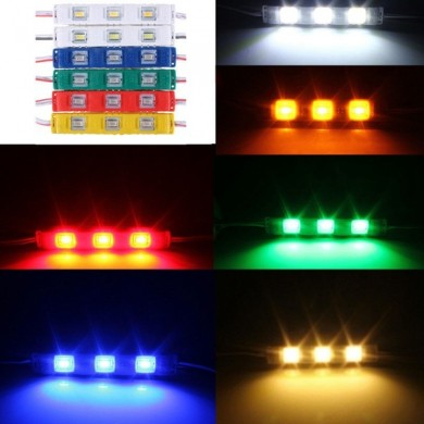 LED 3 SMD 5630 Module Injection Decorative Waterproof Strip Light 12V