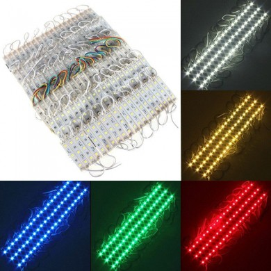 20 Pieces 5050 SMD 60 LED Module Rigid Strip String Light Multi-Colors Waterproof DC 12V