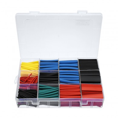 560Pcs 11 Sizes Heat Shrink Tubing Tube Wire Cable Insulation Sleeving Kit 1mm/1.5mm/2mm/2.5mm/3.5mm/4mm/5mm/6mm/7mm/10mm/13mm