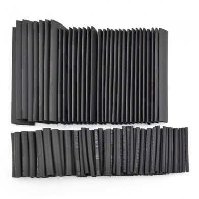 DANIU 127pcs 7Sizes Polyolefin Halogen-Free Heat Shrink Tubing Tube Sleeving Kit