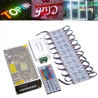 100pcs SMD5050 RGB LED Módulo de luz de tira para o Club Stoue Front Window Sign