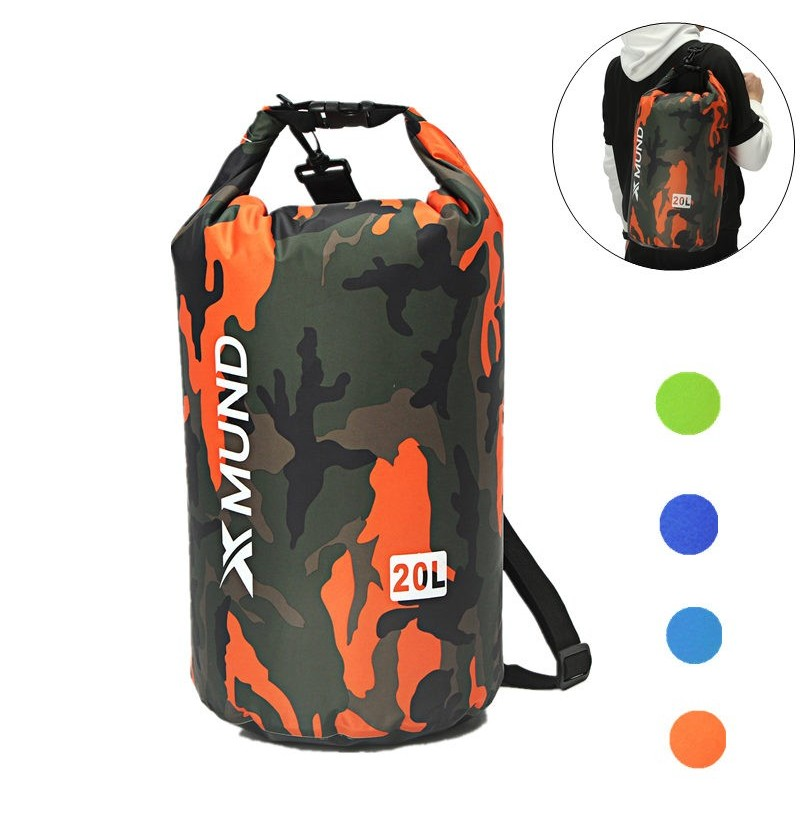 Xmund XD-DY2 Waterproof Bag 20L Swimming Rafting Storage Dry Bag with Adjustable Strap Hook (Color: Green) фото