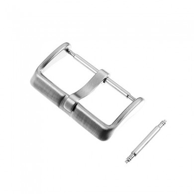 Silver Color Leather Watch Band Needle Buckle