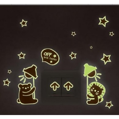 Glowing In The Dark Home Decoration Shiny Star Stickers Luminescent Stickers Fluorescent