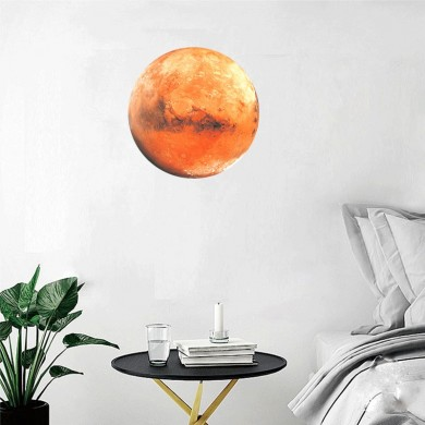 30Cm Large Moon Glow In The Dark Noctilucence Planet Celestial Stickers Luminous DIY Wall Sticker Living Home Decor