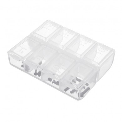 8 Slots Plastic Parts Storage Box Asjustable Case Home Organizer Screws Box